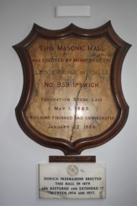 Masonic Hall Ipswich Plaque